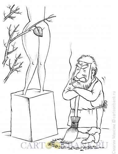Карикатура: Последний листок, Смагин Максим