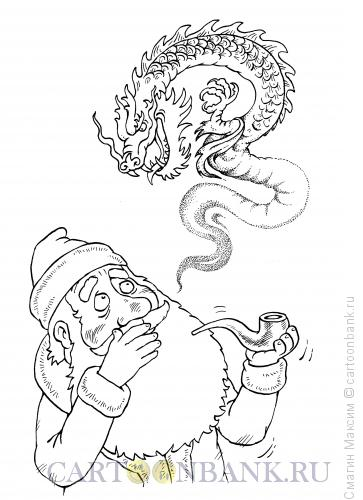 Карикатура: Дедушка покурил, Смагин Максим