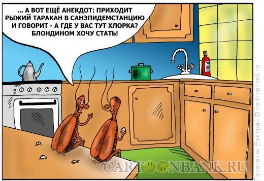 Карикатура: Рыжий таракан, Тарасенко Валерий
