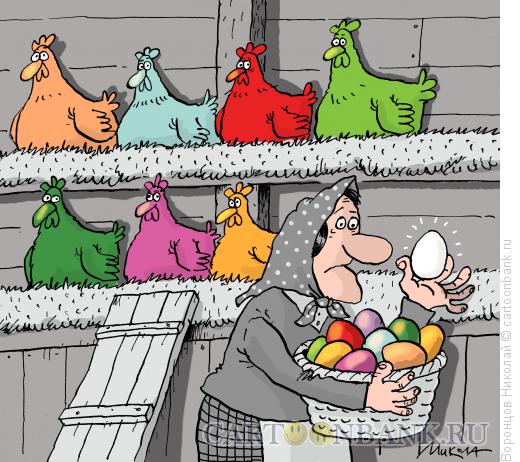 Карикатура: Пасха, Воронцов Николай