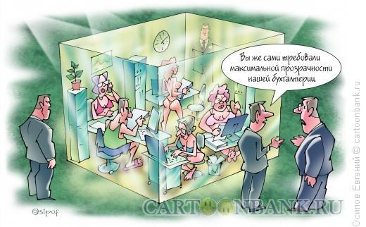 Карикатура: Прозрачная бухгалтерия, Осипов Евгений