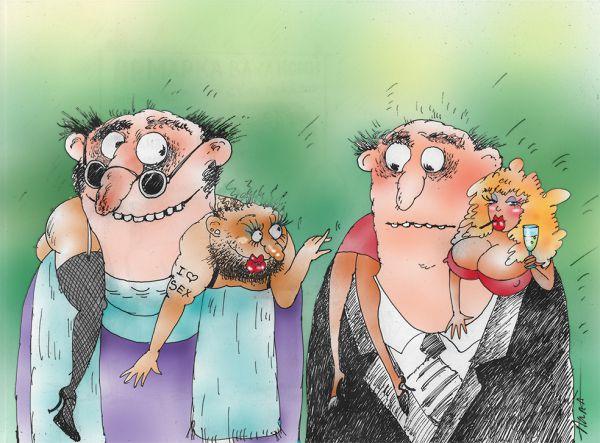 Карикатура: модные штучки, Алла Сердюкова