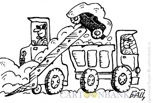 Карикатура: Снег идет, Цыганков Борис