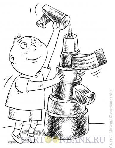 Карикатура: Детсткая пирамидка-автомат, Смагин Максим