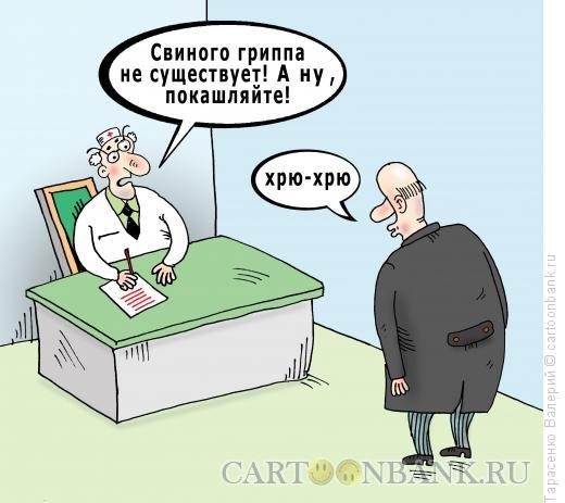 Карикатура: Свиной грипп, Тарасенко Валерий
