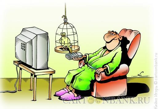 Карикатура: Телезритель, Кийко Игорь