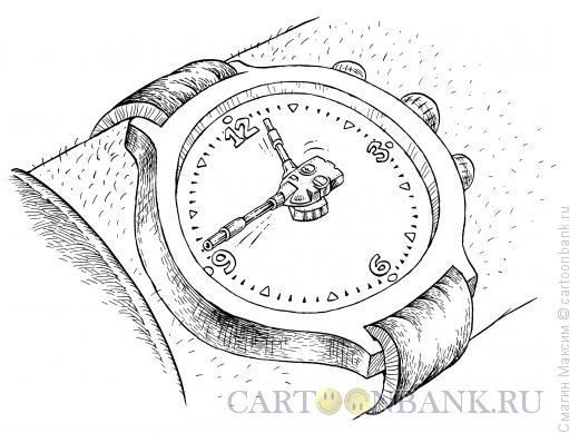 Карикатура: Часы танкиста, Смагин Максим