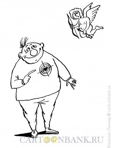 Карикатура: Сердце, тебе не хочется покоя..., Мельник Леонид