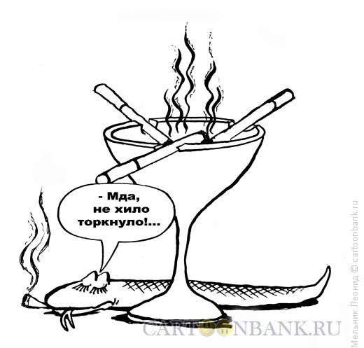 Карикатура: Торкнуло..., Мельник Леонид