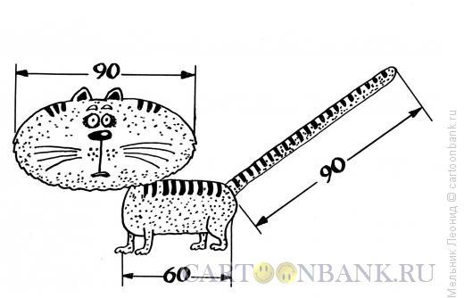 Карикатура: Размер, Мельник Леонид