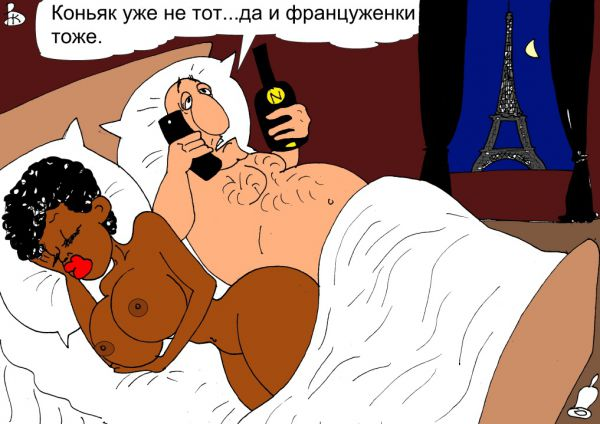Карикатура: Звонок другу, Валерий Каненков