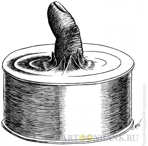 Карикатура: палец, Гурский Аркадий