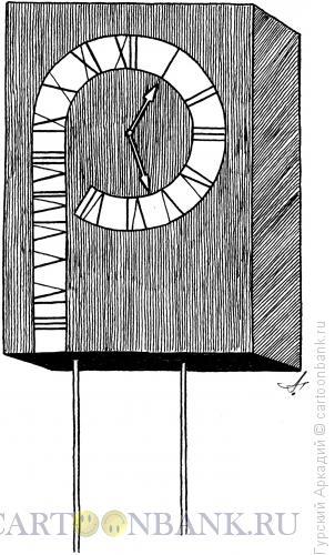 Карикатура: часы настенные, Гурский Аркадий