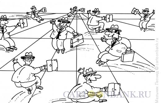 Карикатура: Рокировки, Мельник Леонид