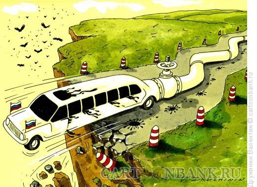Карикатура: Над пропастью, Дружинин Валентин