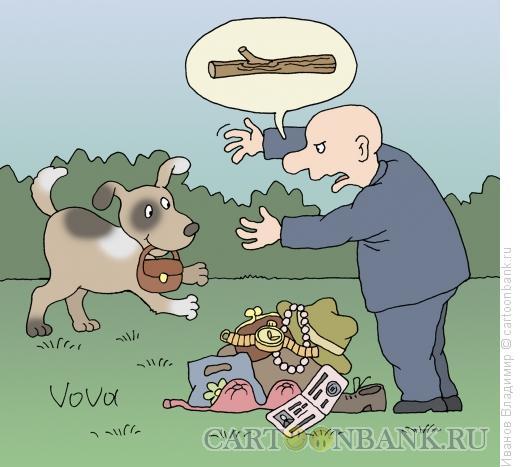 Карикатура: Палочку принеси, Иванов Владимир