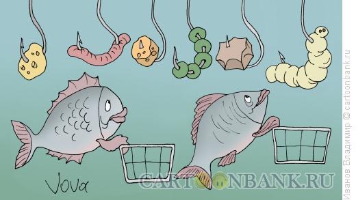Карикатура: Подводный супермаркет, Иванов Владимир