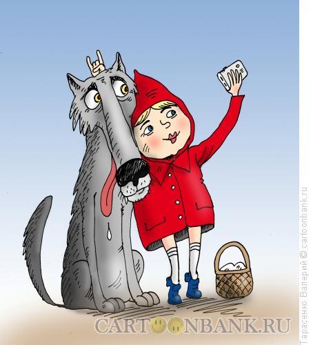Карикатура: Селфи в лесу, Тарасенко Валерий