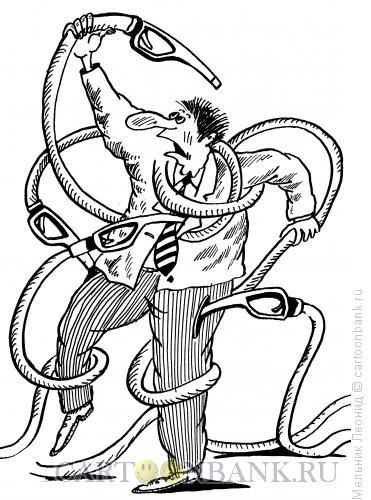 Карикатура: Лаокоон современный, Мельник Леонид