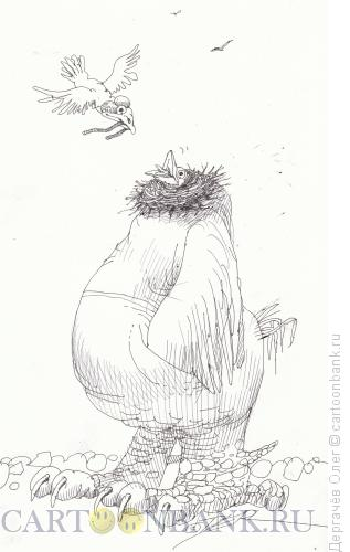 Карикатура: Папа и сынок, Дергачёв Олег
