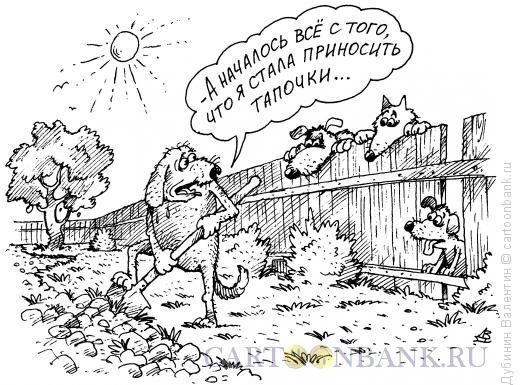 Карикатура: Собачья служба, Дубинин Валентин