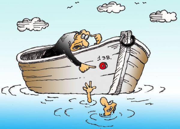 Карикатура: Чего орать,когда звонок есть!, Николай Кинчаров