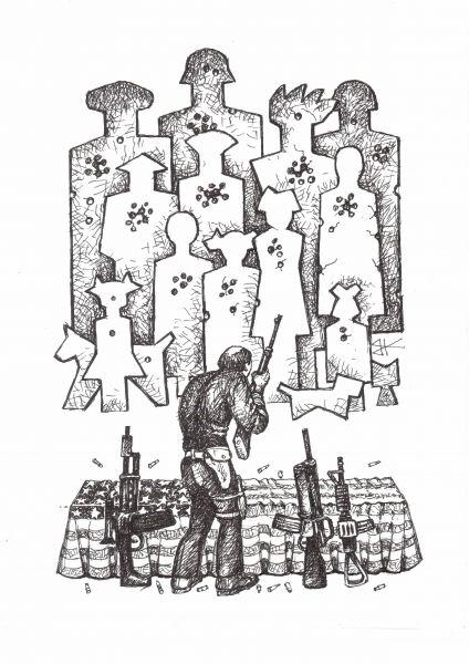 Карикатура: Мишени Америки, Куричев Василий