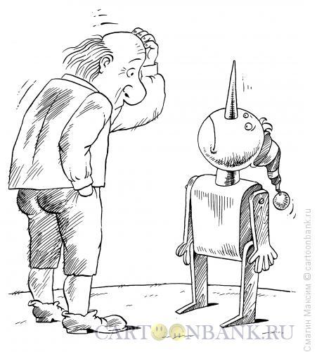 Карикатура: Ошибка папы Карло, Смагин Максим