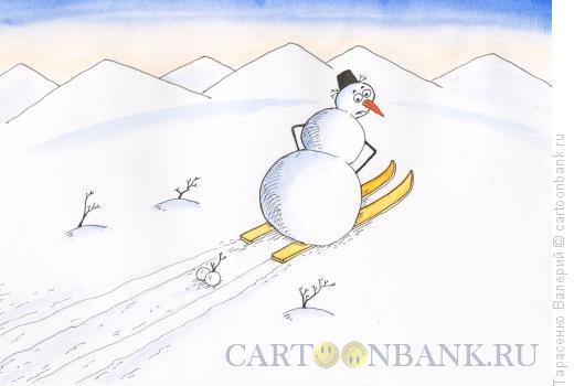 Карикатура: Снежки, Тарасенко Валерий