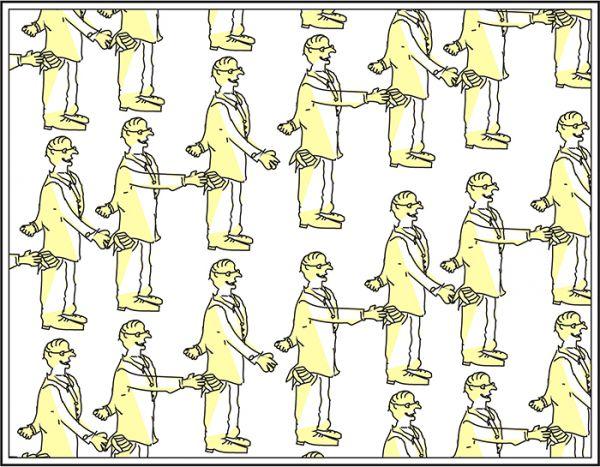 Карикатура: текстура ворующий человек, C1