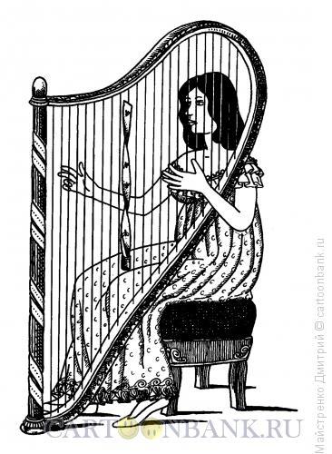 Карикатура: Арфа-мухоловка, Майстренко Дмитрий