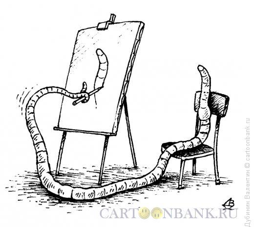 Карикатура: Автопортрет, Дубинин Валентин