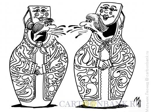 Карикатура: Русская реклама, Мельник Леонид