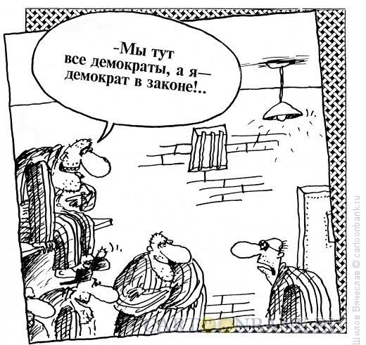 Карикатура: Демократ в законе, Шилов Вячеслав