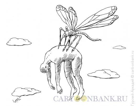 Карикатура: комар и человек, Гурский Аркадий