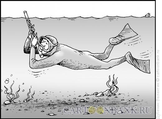Карикатура: Хобби флейтиста, Дубинин Валентин