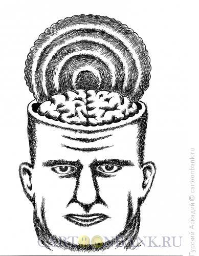 Карикатура: голова с мозгами, Гурский Аркадий