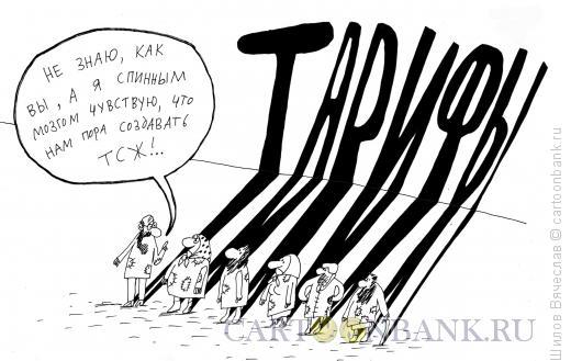 Карикатура: Тарифы, Шилов Вячеслав