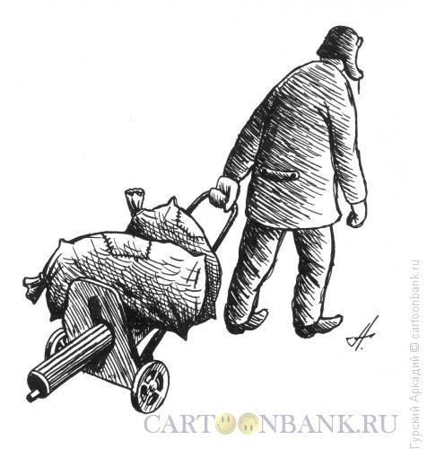 Карикатура: пулемёт максим, Гурский Аркадий