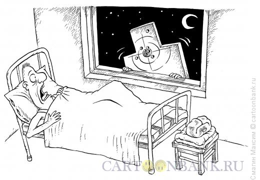 Карикатура: Страшный сон солдата, Смагин Максим