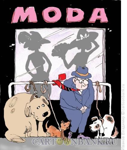 Карикатура: Магазин моды., Иванов Владимир