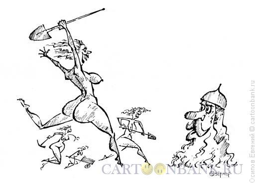 Карикатура: богатырь и бабы, Осипов Евгений