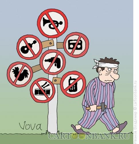 Карикатура: Требую тишины, Иванов Владимир