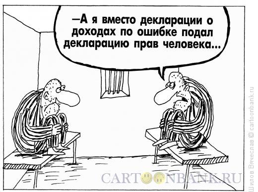 Карикатура: Декларация прав, Шилов Вячеслав