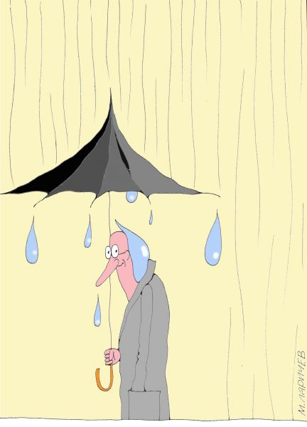 Карикатура: Капелька, Михаил Ларичев