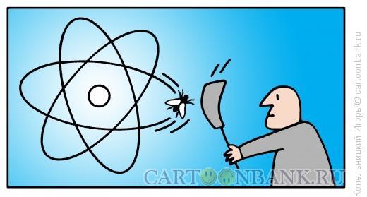 Карикатура: Муха и атом, Копельницкий Игорь