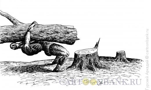 Карикатура: борьба вольная, Гурский Аркадий