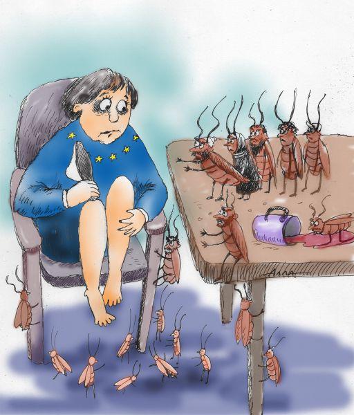 Карикатура: нашествие, Алла Сердюкова