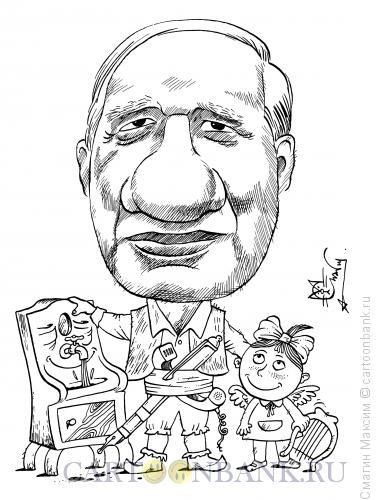 Карикатура: Чуковский Корней Иванович, Смагин Максим