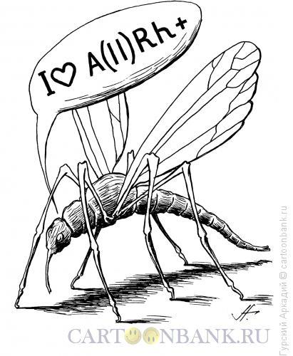 Карикатура: Комар, Гурский Аркадий